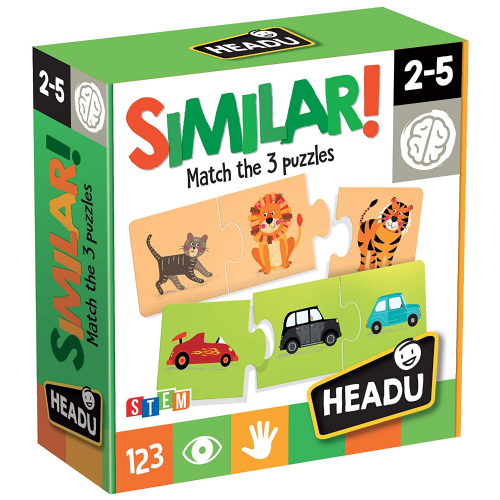 Headu Kids Children Similar Match 3 Puzzles Game Educational Gift Set